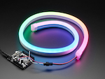 NeoPixel RGB Neon-like LED Flex Strip with Silicone Tube - 1m