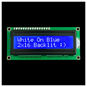 2x16 White Text with blue backlighting