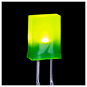 Square LED GREEN - 25 Pack