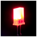 Square LED RED - 25 Pack