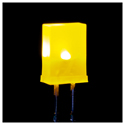 Square LED YELLOW - 25 Pack