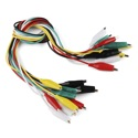 Alligator Test Leads - Multicolored 10 Pack