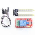 Soil humidity sensor and relay