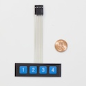 1 x 4 Button Keypad
