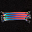40 Pin Premium Ribbon Jumper Wire - Female to Female 7 inch