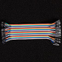40 Pin Premium Ribbon Jumper Wire - Male to Female 7 inch