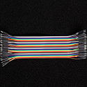 40 Pin Premium Ribbon Jumper Wire - Male to Male 7 inch