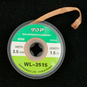 Solder Wick 3.5mm wide 1.5m long - Generic
