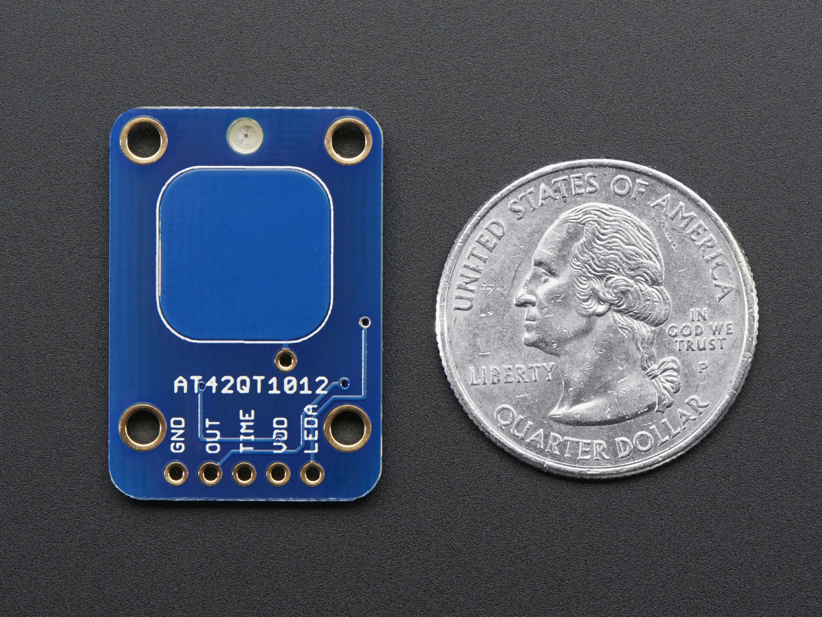 Standalone Toggle Capacitive Touch Sensor Breakout - AT42QT1012 - Click Image to Close