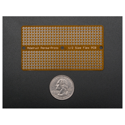 Adafruit Flex Perma-Proto - Half-sized Breadboard Flex-PCB - Click Image to Close