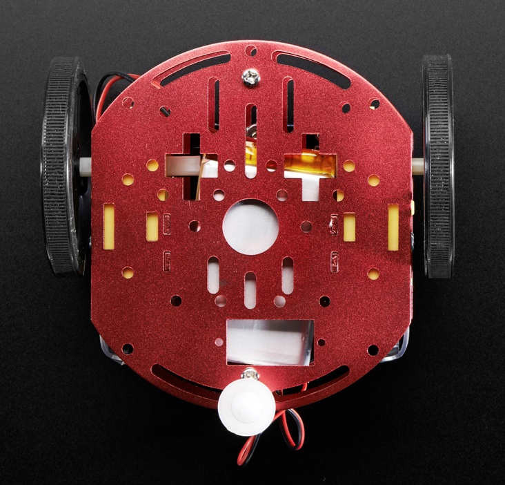 Mini Round Robot Chassis Kit - 2WD with DC Motors - Click Image to Close