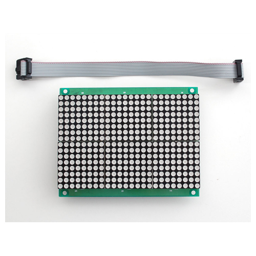 16x24 Red LED Matrix Panel - Chainable HT1632C Driver - Click Image to Close