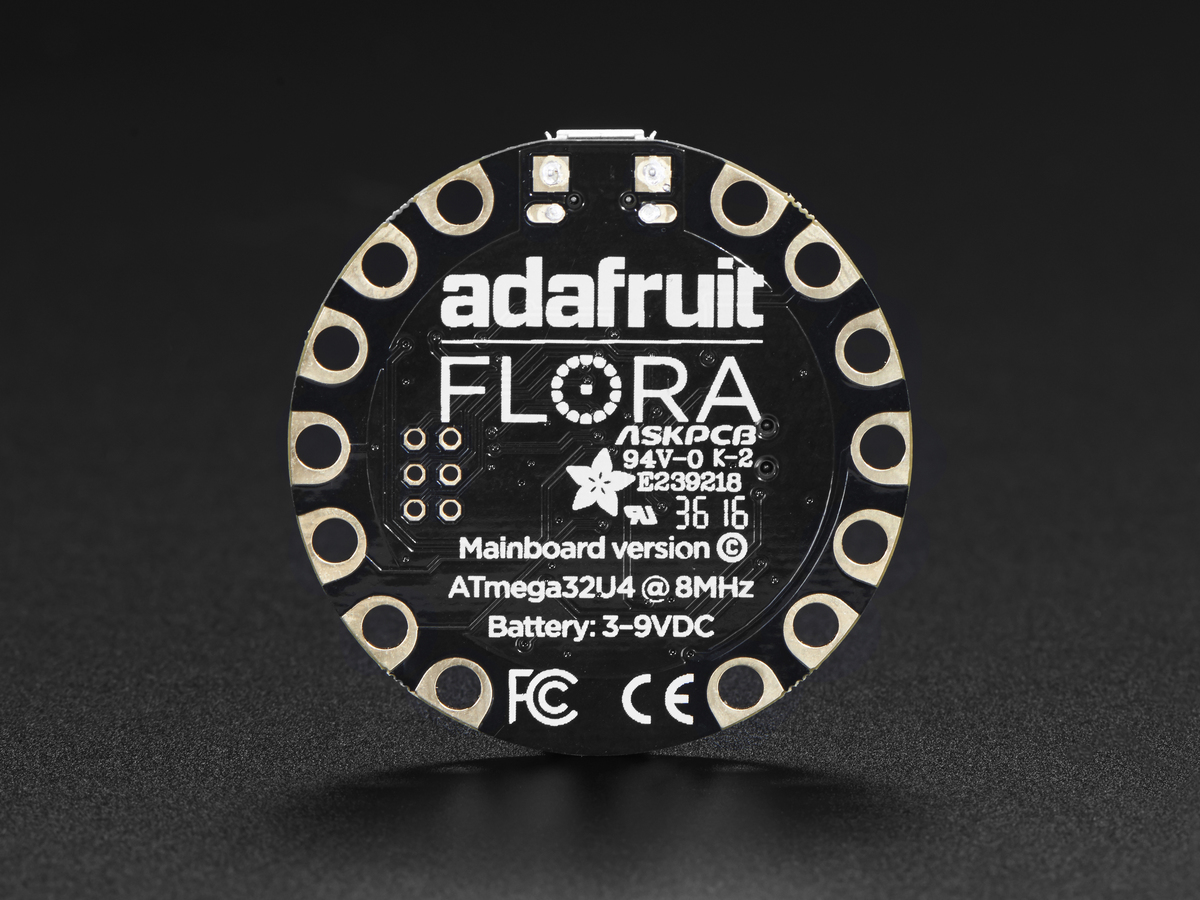 FLORA - Wearable electronic platform: Arduino-compatible - v3 - Click Image to Close