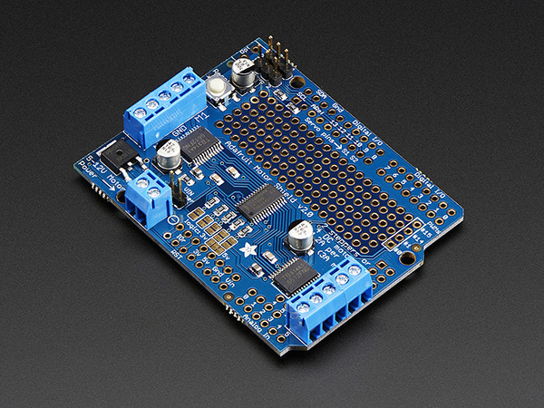 Adafruit Motor/Stepper/Servo Shield for Arduino v2.3 Kit - Click Image to Close