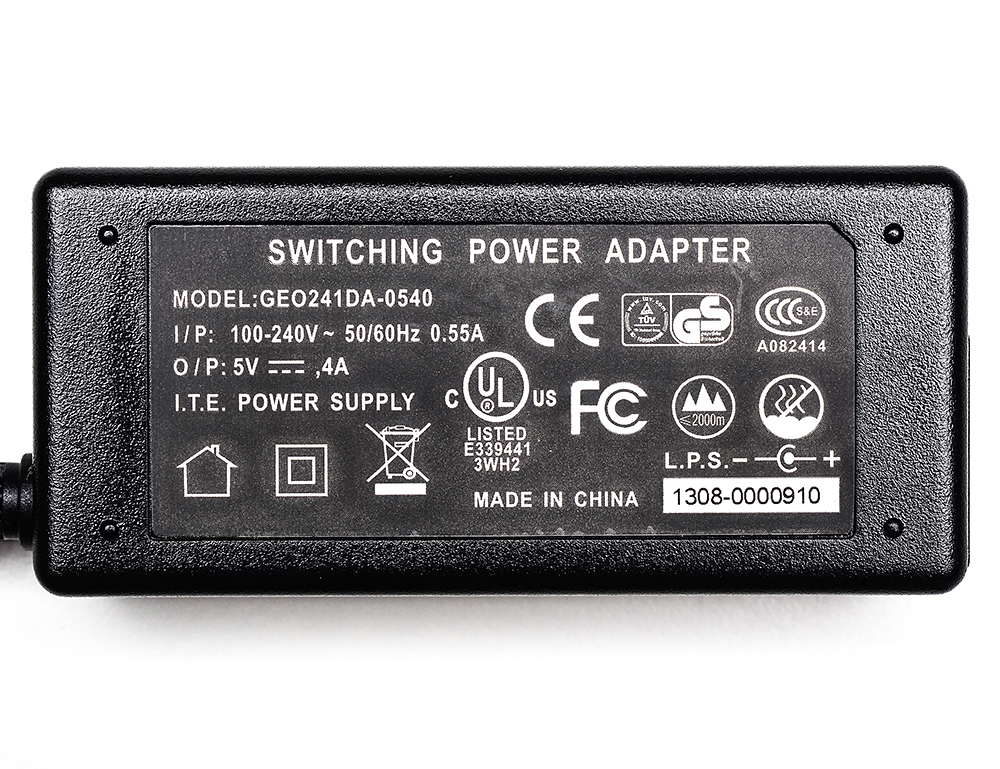 5V 4A (4000mA) switching power supply - UL Listed - Click Image to Close