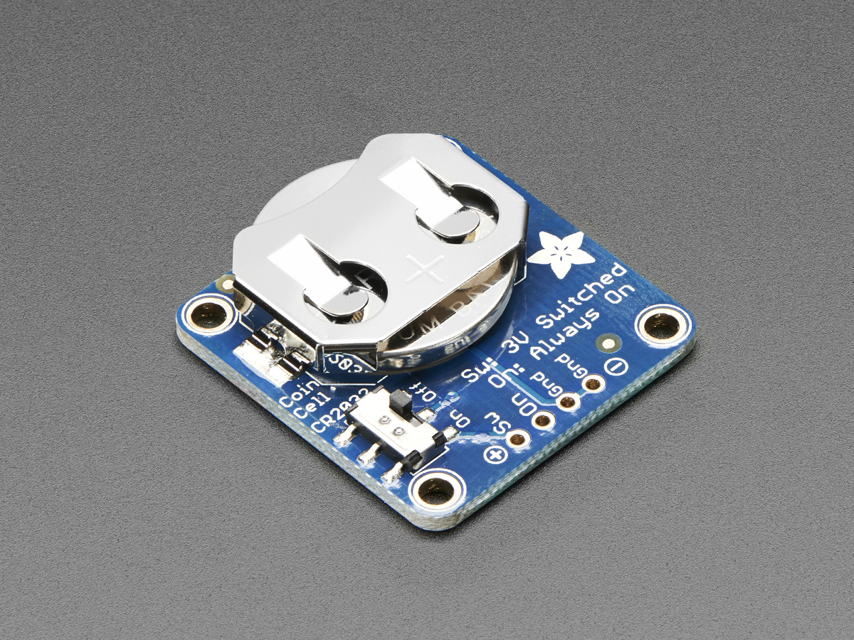 20mm Coin Cell Breakout w/On-Off Switch (CR2032) - Click Image to Close