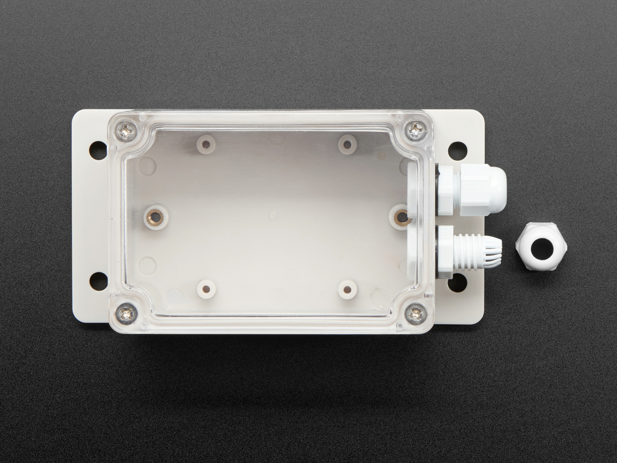 Flanged Weatherproof Enclosure With PG-7 Cable Glands - Click Image to Close