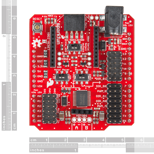 SparkFun Wireless Motor Driver Shield - Click Image to Close
