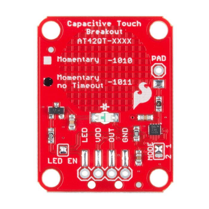 SparkFun Capacitive Touch Breakout - AT42QT1011 - Click Image to Close