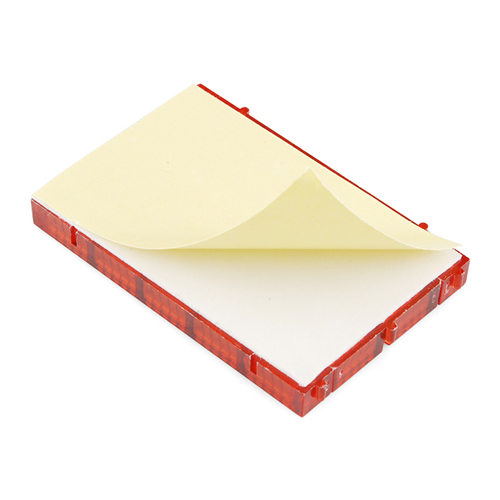 Breadboard - Translucent Self-Adhesive (Red) - Click Image to Close