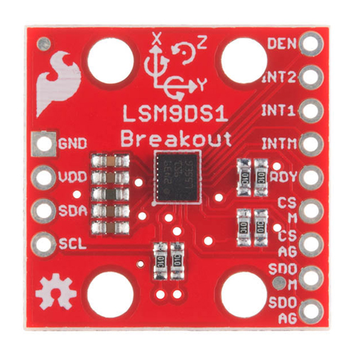 SparkFun 9 Degrees of Freedom IMU Breakout - LSM9DS1 - Click Image to Close