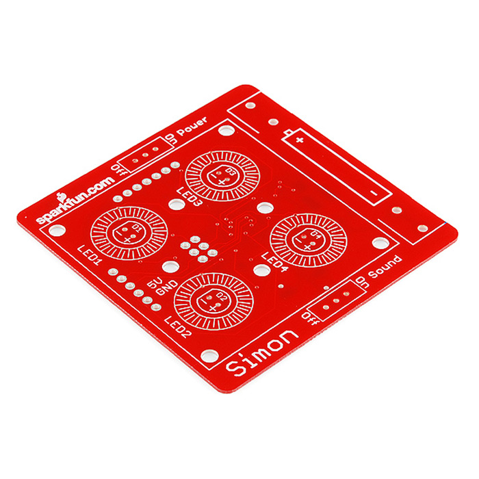 SparkFun Simon Says - Surface Mount Soldering Kit - Click Image to Close