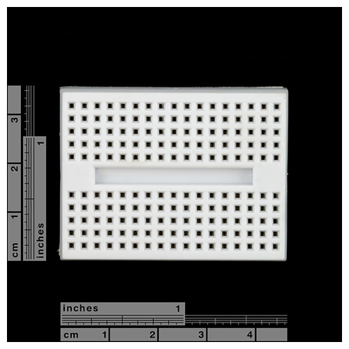 Breadboard Mini Self-Adhesive White - Click Image to Close