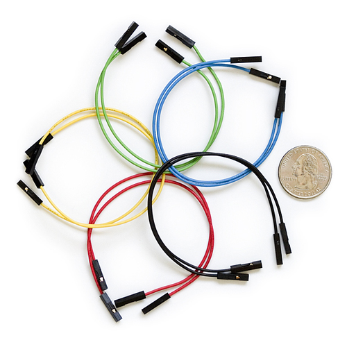 "Jumper Wires Premium 6"" F/F Pack of 10 - Click Image to Close"