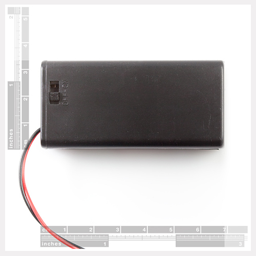 Battery Holder 2xAA with Cover and Switch - Click Image to Close