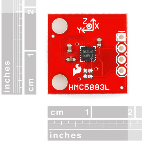 Retired - Triple Axis Magnetometer Breakout - HMC5883L - Click Image to Close