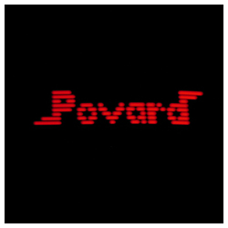 Povard (LED rouges - Noir Lunette) - Kit