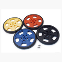 GM Series Plastic Wheels - Black
